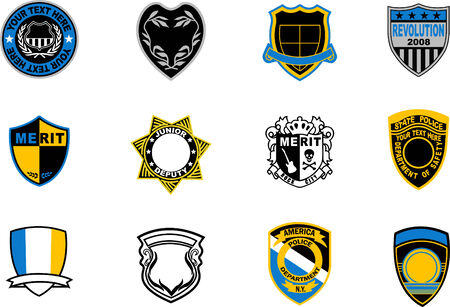 military badge Vector