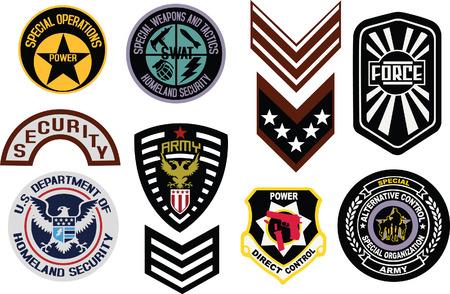 wojskowych tarczy logo Logo