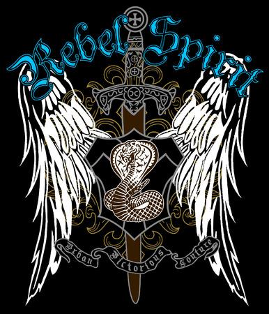 logo rock: embl�me h�raldique