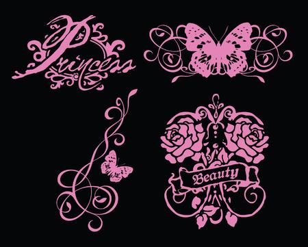 rock logo: s�mbolo de la flor de mariposa