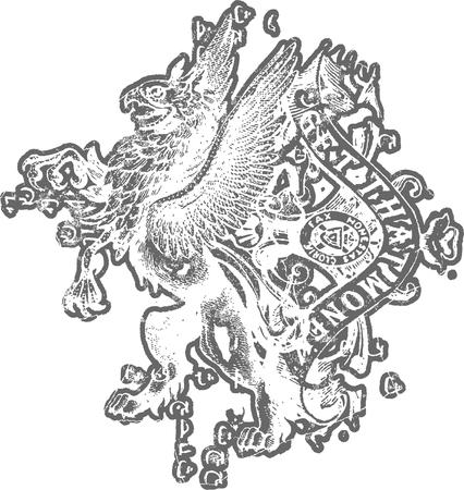 heraldic crest Vector