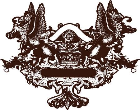 war decoration: heraldic crest element