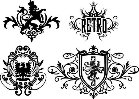 lion wings: heraldic crest element