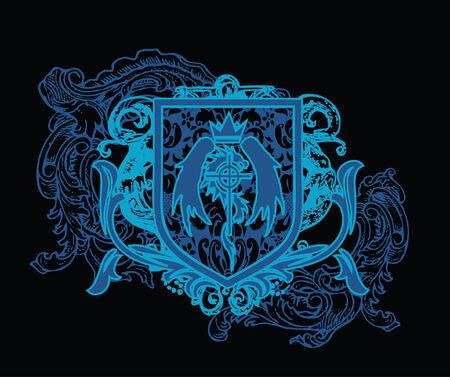 rebel: heraldic crest element