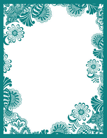 fancy border: Paisley marco flores