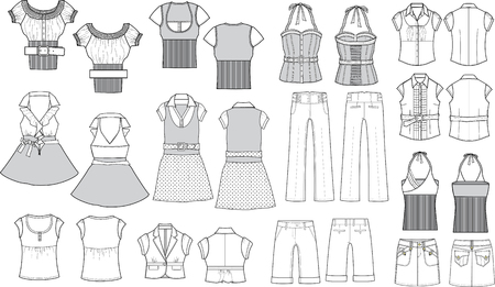 fashion item outline Vector