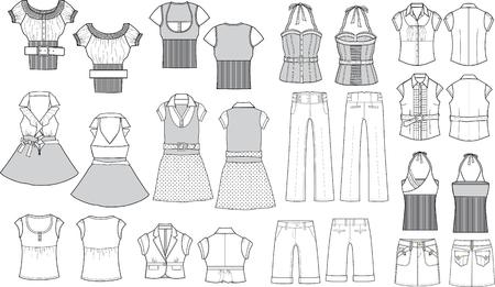 fashion item schets