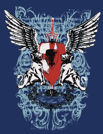 heraldic crest element Vector