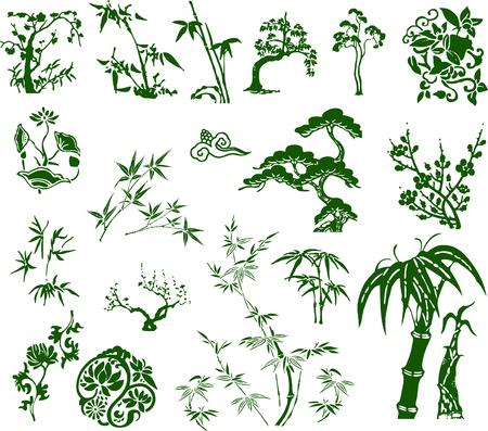 classico tradizionale inchiostro cinese di bambù