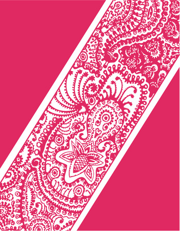indian ink: paisley flower cover Illustration