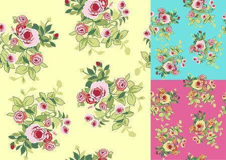 victorian woman: flower print element
