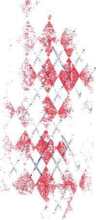 Distressed check texture  Illustration