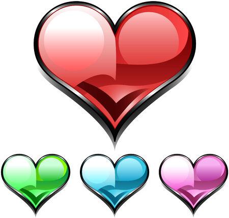 heart diamond web icon Vector
