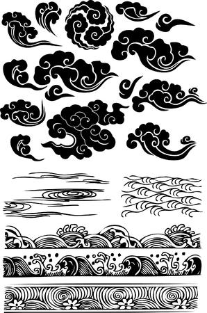 classique nuage d'eau de mer icône