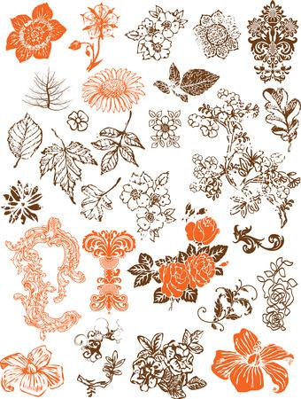 flower element Stock Vector - 4381325