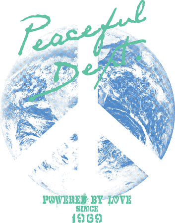 banner of peace: peaceful earth