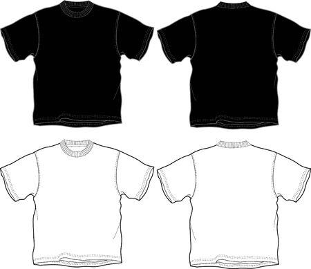 t-shirt outline Illustration