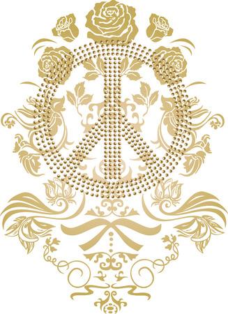 rock logo: pac�fica con el logotipo de la flor Vectores