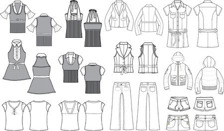 blusa: esbozo de moda el tema Vectores