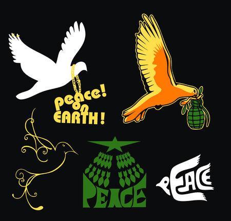 peace on earth logo Stock Vector - 4424609