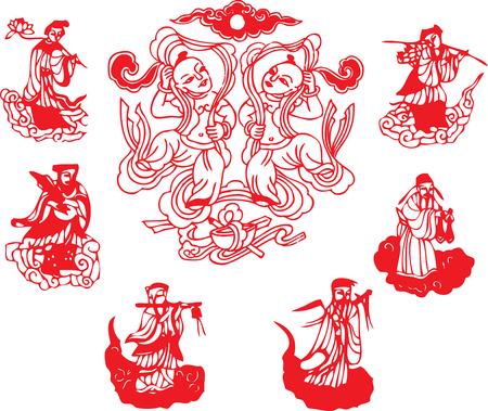 fortune design: oriental element Illustration