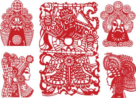 fortune flower: oriental element Illustration