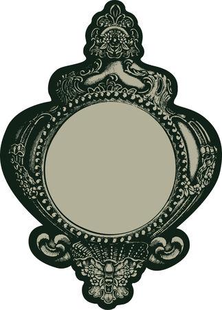 classic mirror Vector