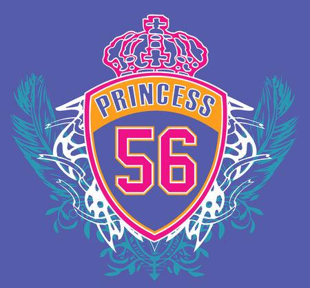 sporty girl emblem