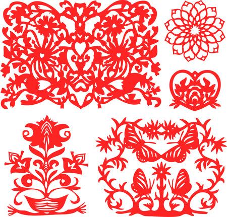 fortune flower: fancy floral element