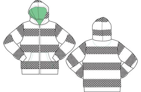 men and boy hoodies Vector