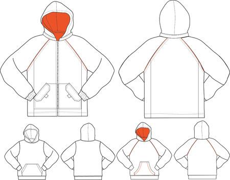 men and boys hoodies Vector