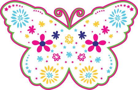 banner of peace: Lovely flower butterfly illustration Illustration