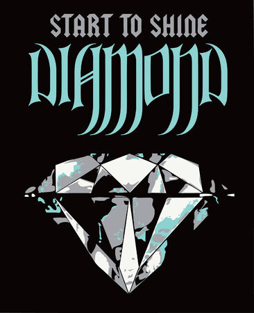 diamond luxury poster Vector