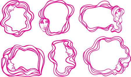 Woman border Vector