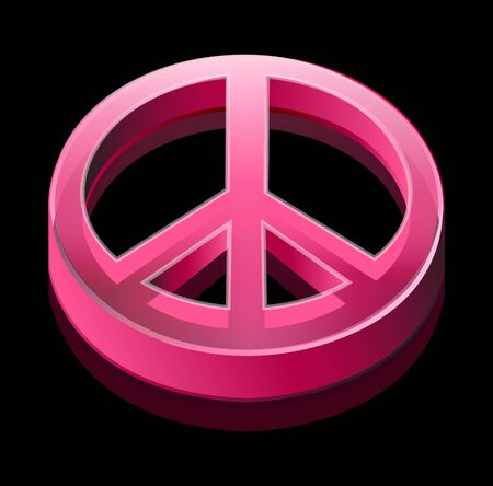 dimentional: pink peace logo Stock Photo
