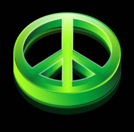 logotipo de la paz verde Foto de archivo - 4452040
