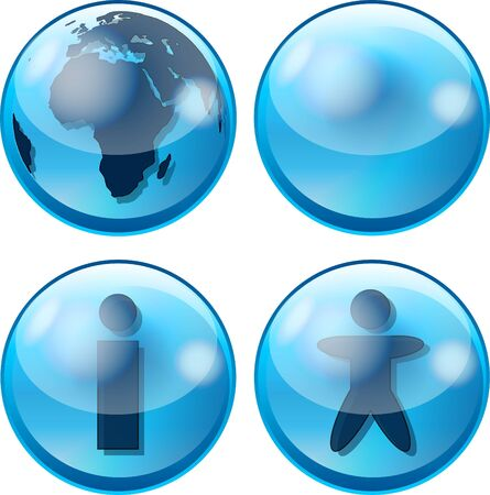 glossy business sphere icon Stock Photo - 4452039