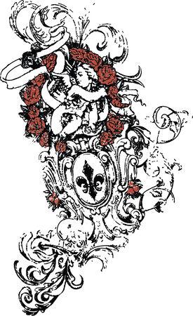 war decoration: Heraldic element  Illustration