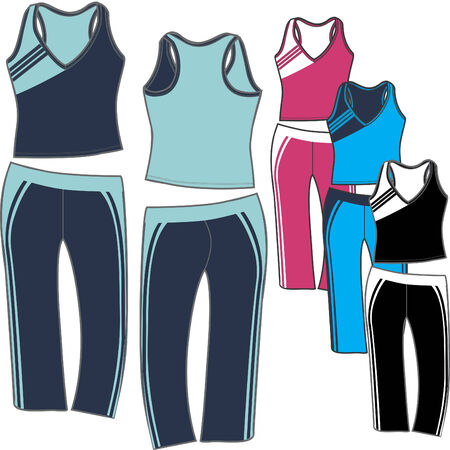 summer wear: LADIES SPORTY SET