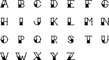 old english letter alphabet: tattoo letter