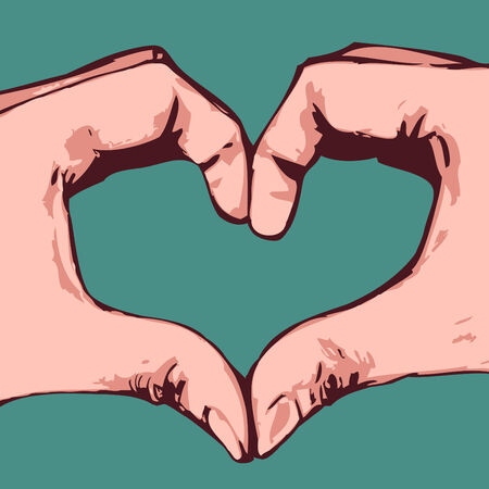 Hands heart Stock Vector - 4514185