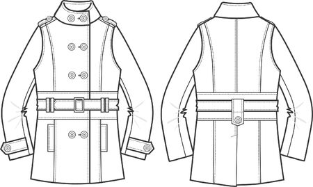 lady jacket Vector