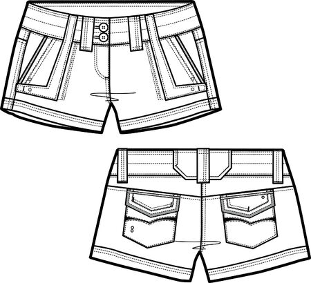 bottom line: lady shorts Illustration