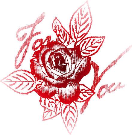 punk: rose pour votre �tiquette