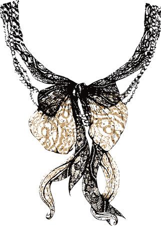 colliers: Decorative dentelle arc