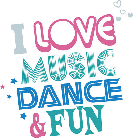 fonts music: music dance fun illustration