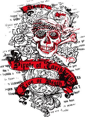 logo rock: marin cr�ne avec des fleurs Illustration