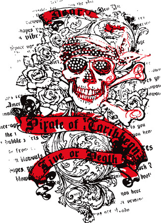 sailor: marinero cr�neo con flores