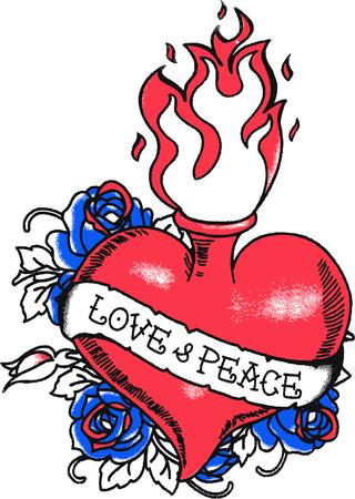 logo rock: feu coeur