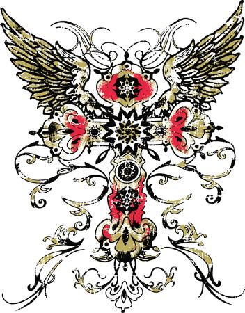 gotische ccross Tribal Tattoo Vector Illustratie